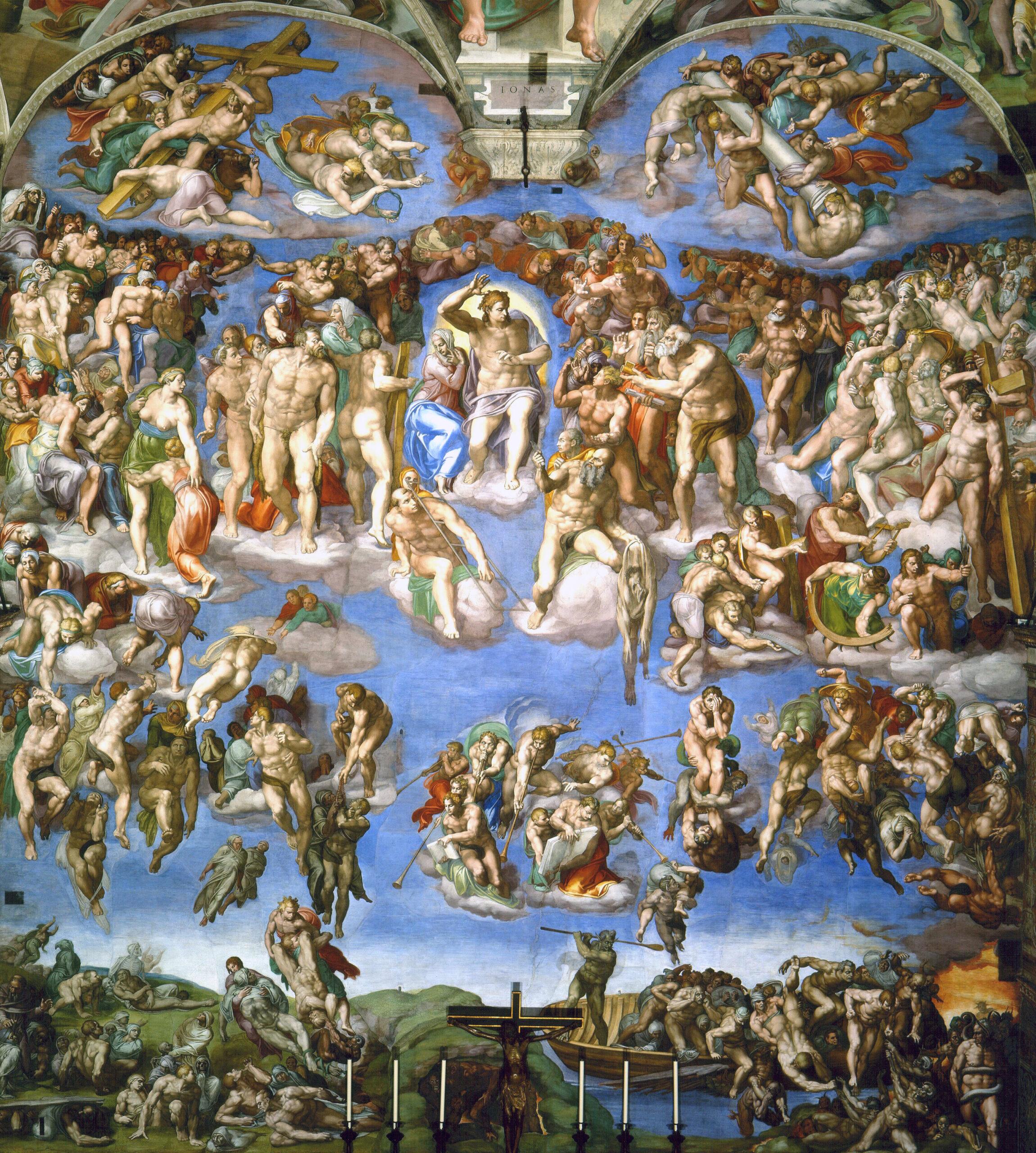 Das jüngste Gericht von Michelangelo